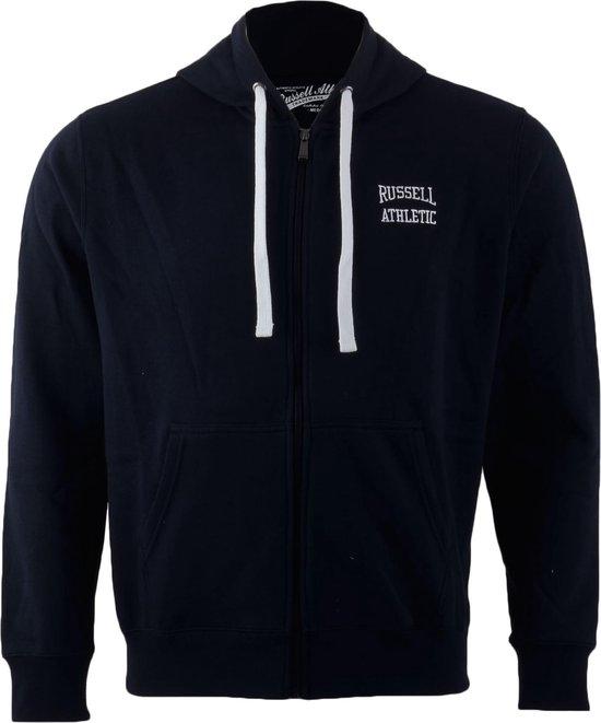 Russell Athletic Zip Through Hooded - Sporttrui - Mannen - Maat S - Navy