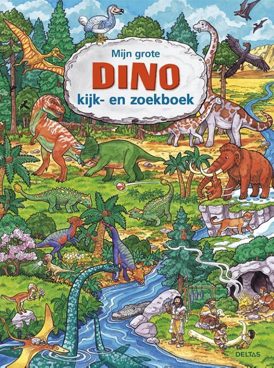 Boek cover Mijn grote Dino kijk en zoekboek van Caryad (Hardcover)