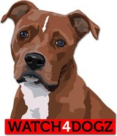 Amerikaanse Stafford, Pitbull sticker, set van 2 stickers
