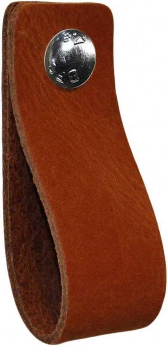 NiiNiiX Leren handgreep Cognac - Maat S 3,0 x 15 cm;