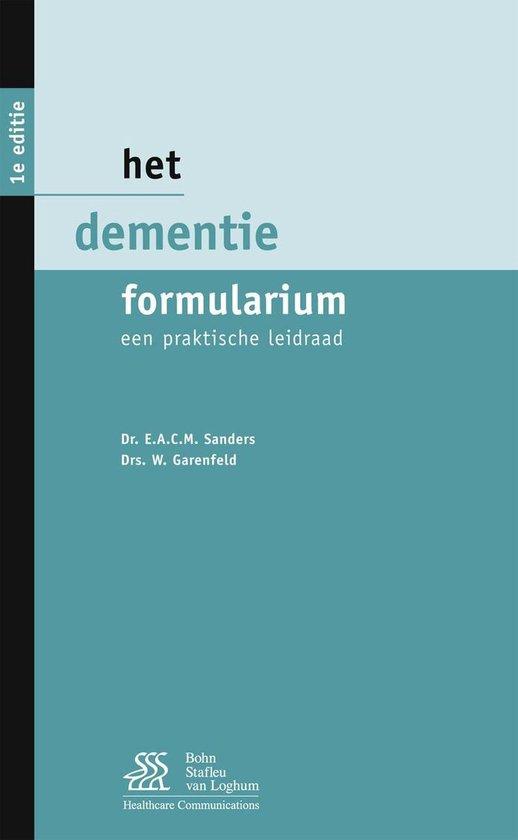 Het dementie formularium - E.A.C.M. Sanders   Fthsonline.com