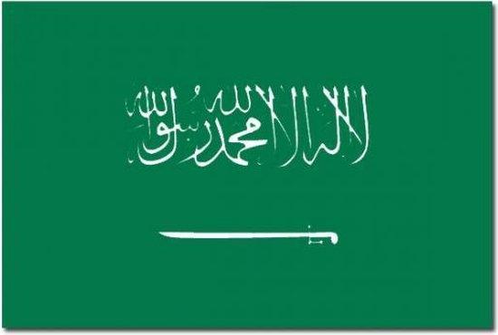 Vlag Saoedi Arabie 90 x 150 cm feestartikelen - Saoedi Arabie landen thema supporter/fan decoratie artikelen - Merkloos