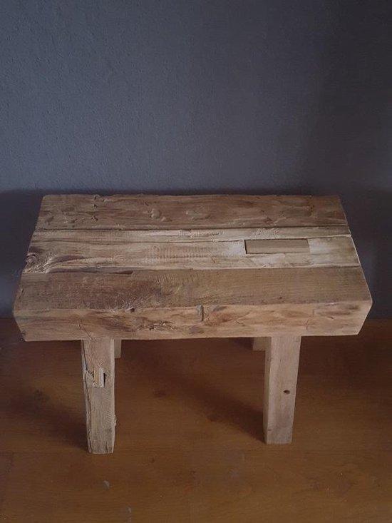 Reclaimed teak houten kruk - kolony