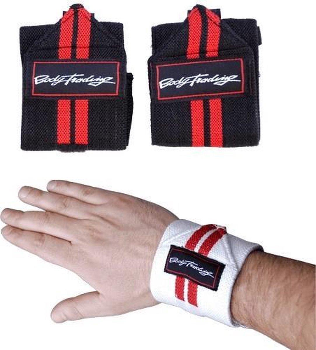 Bodytrading Easy Wrist Wrap SU100 - Zwart - Zwart/Wit - Elastiek
