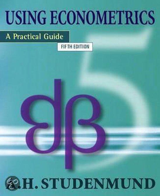 Boek cover Using Econometrics van A. H. Studenmund (Paperback)