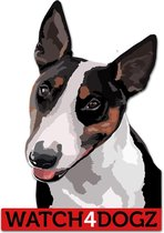 Bull Terrier sticker (set van 2 stickers)