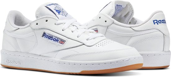 Reebok Club C 85 Sneakers Heren - Int-White/Royal-Gum - Maat 37.5