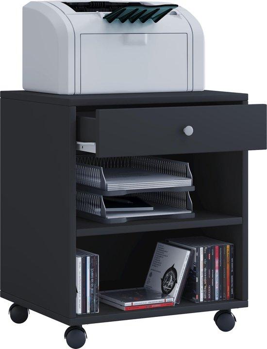 Ladeblok bureau kastje verrijdbaar zwart