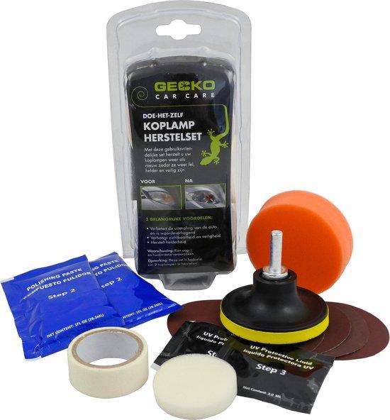 Gecko car care Koplamp Poetsen Set Headlight Polishing Kit Inclusief Polijstmiddel