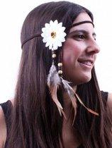 Hippie hoofdbandje wit