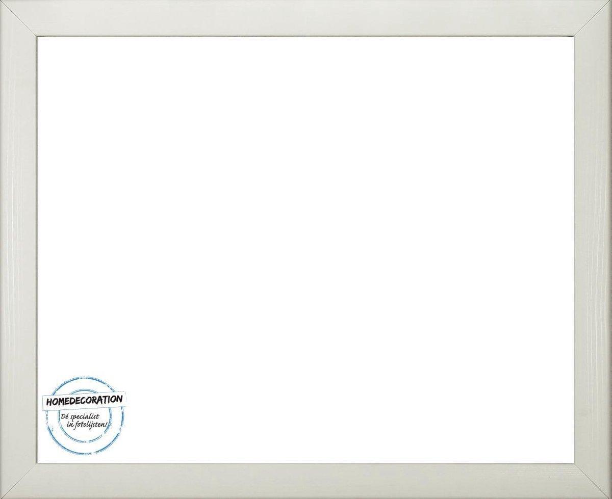 Colorado MDF fotolijst 62x80 cm, wit houtnerf