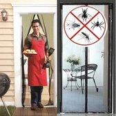 Lamellenhor voor deuren (met magneet) - 100x210 cm - Zwart