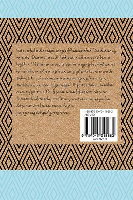 999 vragen aan jezelf - Invuldagboek - Blauw