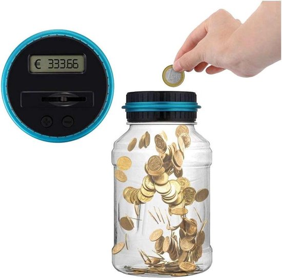 Digitale Spaarpot Met Munten Teller - geschikt voor EURO munten (1.8L)