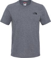The North Face S/s Simple Dome Tee - Eu Outdoorshirt Heren - TNF Medium Grey Heather (Std)