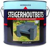Hermadix Steigerhoutbeits - 2,5 liter - Antraciet