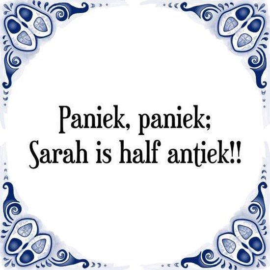 Onwijs bol.com   Tegeltje met Spreuk (Sarah 50 jaar): Paniek, paniek TW-55