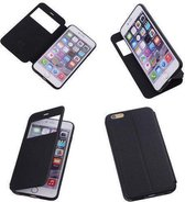 View Cover Zwart Apple iPhone 6 Plus TPU BookStyle Hoesjes