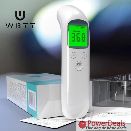 Voorhoofd thermometer professioneel - Infrarood thermometer - Thermometer lichaam - Baby thermometer - Koortsthermometer