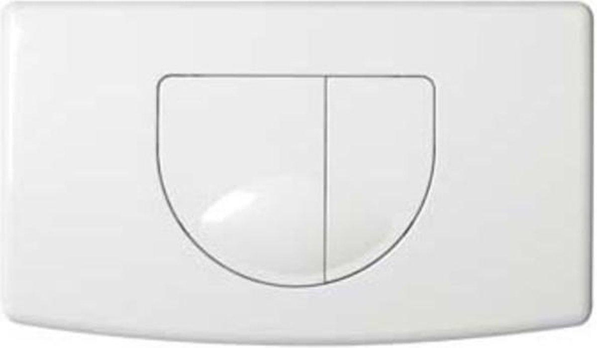 Plieger Main bedieningspaneel voor frontbediening 2 knops wit