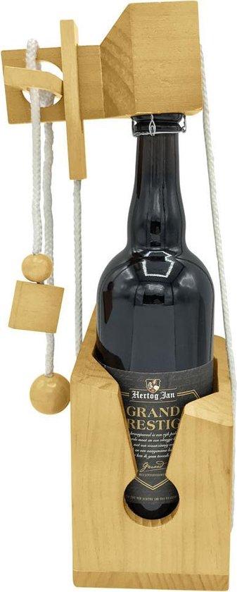 Bubble Up Wijnpuzzel - Bier of Wijnfles puzzel - Houten flessenpuzzel   Origineel cadeau of relatiegeschenk