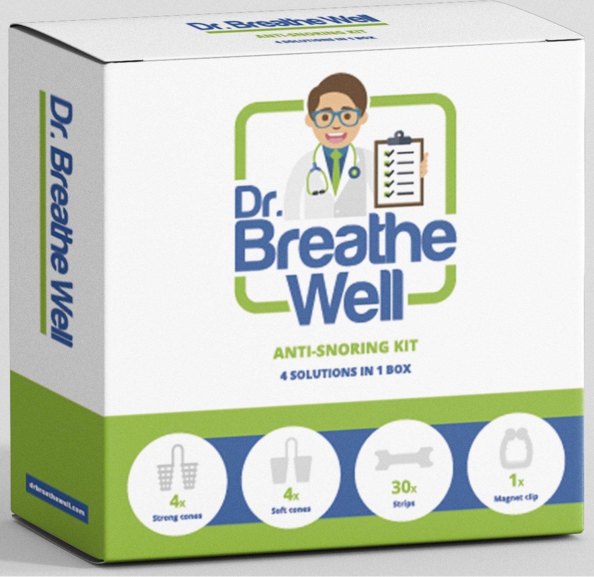Dr. Breathe Well ™ - Compleet Anti Snurk Neusspreider Pakket -  4 oplossingen in 1 doos!