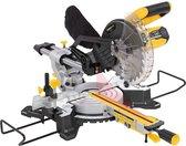 Powerplus POWX075710S telescopische afkort- en verstekzaag – 1600W – Ø210mm 24 tands zaagblad