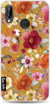 Huawei P20 Lite hoesje Flowers Mustard Casetastic Smartphone Hoesje softcover case