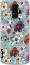 Samsung Galaxy S9 Plus Hoesje Bloemen Flowers Soft Blue Casetastic Smartphone Hoesje Bloemen softcover case