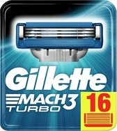 Gillette Mach3 Turbo Scheermesjes Mannen - 16 stuks