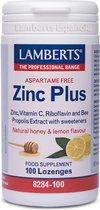Lamberts Zink Plus - 100 zuigtabletten - Mineralen - Voedingssupplement