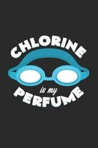 Chlorine is my perfume: 6x9 Swimmingl - dotgrid - dot grid paper - notebook - notes