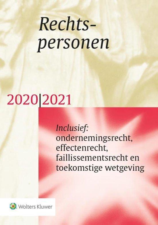 Boek cover Rechtspersonen 2020/2021 van  (Paperback)