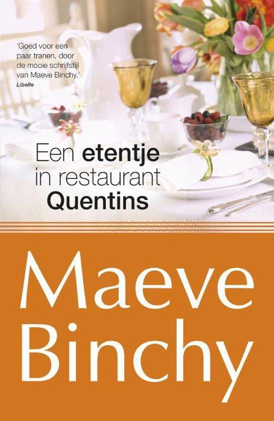 Boek cover Een etentje bij restaurant Quentins van Maeve Binchy (Paperback)