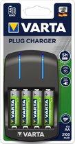 Varta Plug - Batterijoplader voor NiMH AAA (potlood) en AA (penlite)