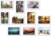 Magnetische fotolijst - foto 13x18 cm - wit - 10 stuks
