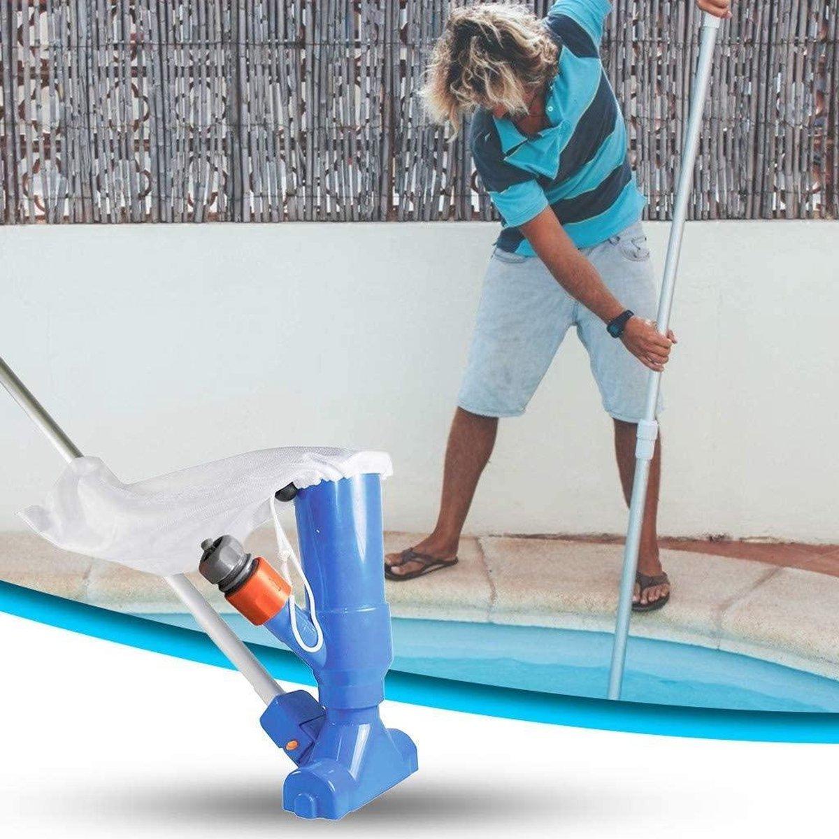 Jet Vac Zwembad Stofzuiger - Zwembadstofzuiger -Bodemzuiger - Inclusief Telescoopstang - Zwembadzuiger - Bodemzuiger Zwembad - Zwembad Onderhoud - Zwembad Schoonmaak