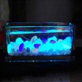 Glow in the dark stenen - Aquariumdecoratie - Bodembedekker - Tuindecoratie - Zak 100 stuks