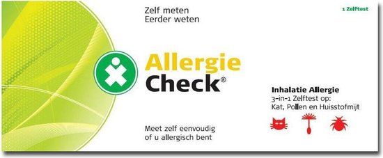 Testjezelf Inhalatie Allergie Check 3 in 1 - 1 stuk - Allergietest