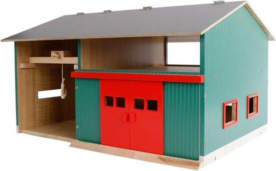 Afbeelding van Werkplaats met berging Kids Globe: schaal 1:32 speelgoed