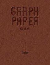 Graph Paper 4x4 Notebook