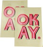 """2-pak A4 schriften met tekst """"OKAY"""" - Multicolor - 10 mm - Geblokt"""