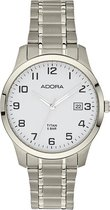 Adora horloge met datum- volledig titanium /zilverkleurig AB6467