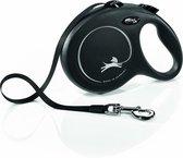 Flexi Rollijn New Classic Tape Large 8 m - Hondenriem - Zwart Tot 60kg
