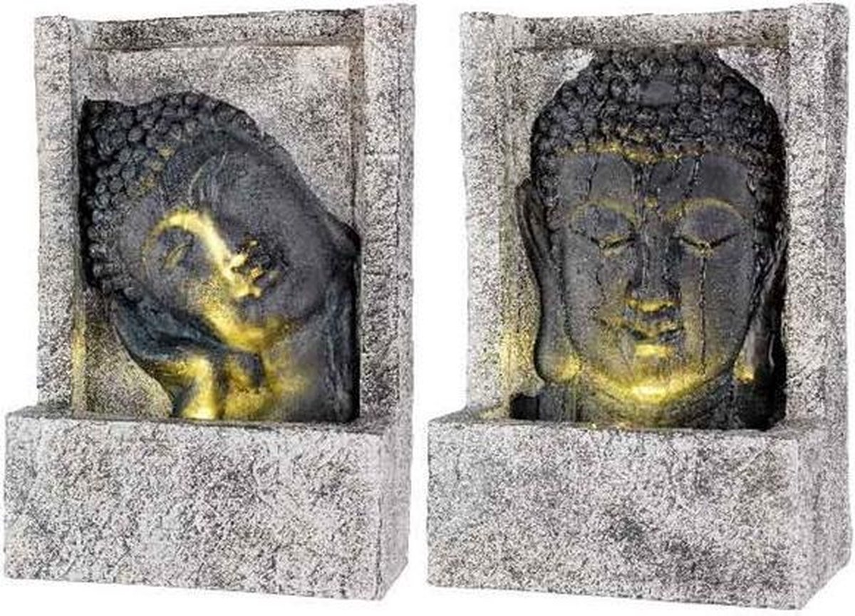 Lumineo Fontein Boeddha LED polystone voor buiten 28x13.5x40cm Warmwit Buddha