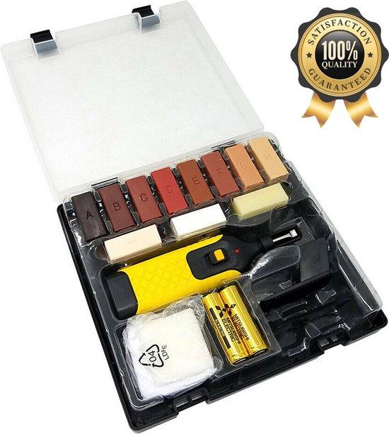 Needum ® Laminaat Reparatieset – Reparatieset Laminaat – Geschikt voor laminaat/hout/parket vloeren – Bestaat uit 19 onderdelen