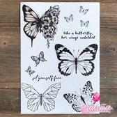 GetGlitterBaby - Henna Plak Tattoos / Tijdelijke Tattoo / Nep Tatoeage / Fake Temporary Tattoo - Vlinders