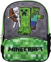 Minecraft - Creeper - Rugzak jongens - Groen/Grijs