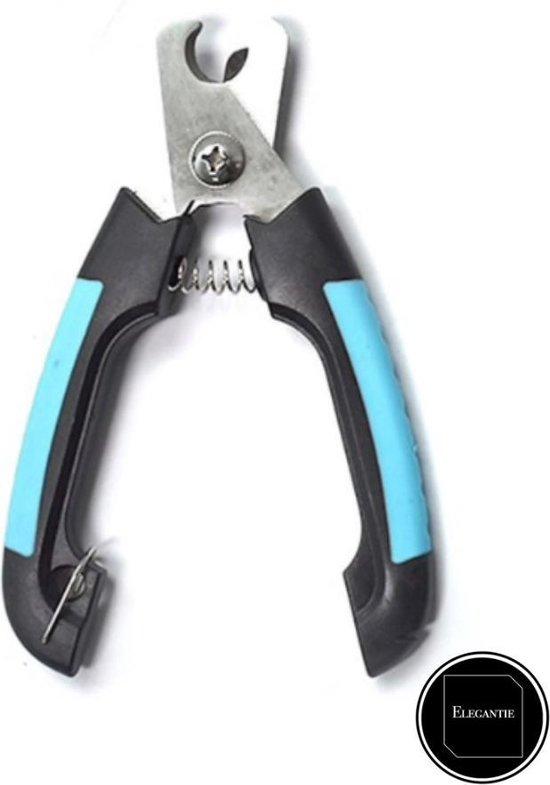 ElegaPet Professionele Nagelknipper S - Hond Blauw Zwart - Dier - Nageltang Met Veiligheidsstop Nagelschaar