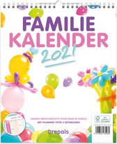 Brepols Familie Kalender 2021 • Handig Weekoverzicht • 5 kolommen • 25 x 30 cm